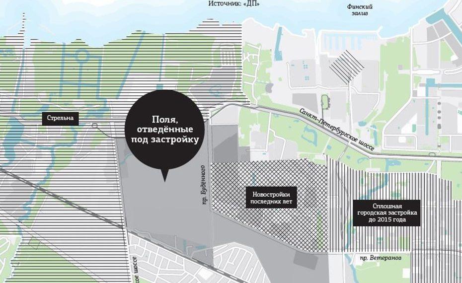 план застройки в районе Стрельны
