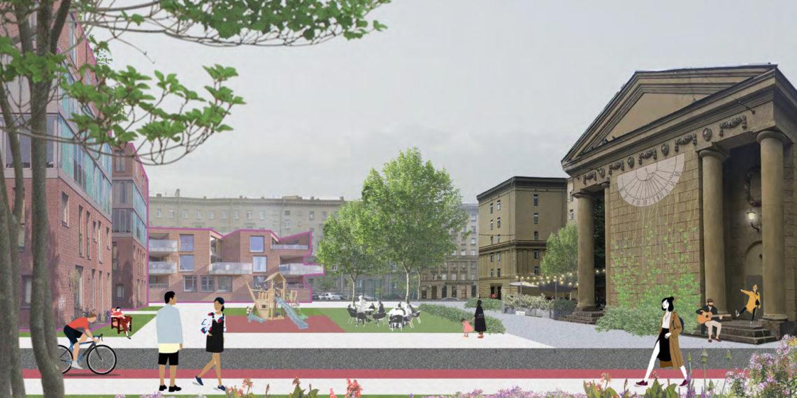 MLA+ проект реконструкции двора сталинского дома