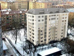 реконструированная пятиэтажка в Москве на улице Мишина