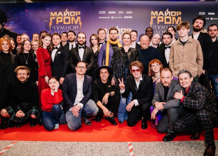 Съемочная группа во время премьеры фильма