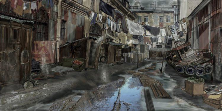 Концепция переулка для одной из сцен фильма
