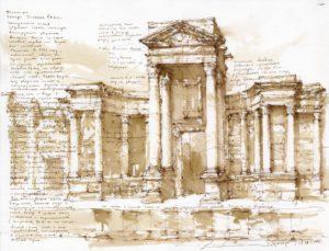 Скена театра в Пальмире, Сирия. Максим Атаянц, 2005 г.