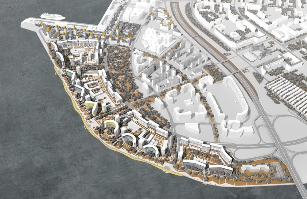 Проект застройки намывных территорий на Васильевском острове